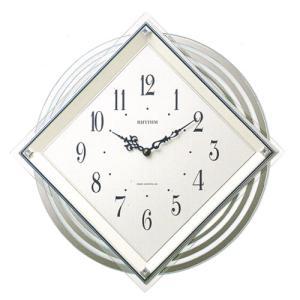 円形振り子付時計 壁掛け時計 4MX405SR03 リズム RHYTHM 裏面への文字入れ不可 取り寄せ品|morimototokeiten