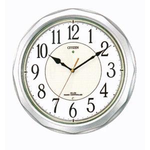 壁掛け時計 シチズン 電波時計 CITIZEN 暗くなると音の静かな 掛時計 ネムリーナ 4MY642-019 名入れ 文字入れ対応、有料 取り寄せ品|morimototokeiten
