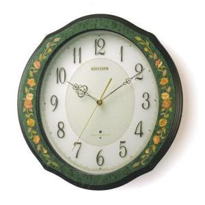 象嵌 インテリア 壁掛け時計 電波時計 リズム RHYTHM 掛時計 4MY748HG05 文字入れ名入れ対応、有料 取り寄せ品|morimototokeiten