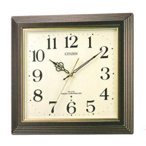 壁掛け時計 シチズン 電波時計 CITIZEN 暗くなると音の静かな 掛時計 4MY803-006 名入れ 文字入れ対応、有料 取り寄せ品|morimototokeiten