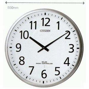 名入れ 時計 文字書き代金込み 直径55cm 電波掛時計 シチズン CITIZEN 壁掛け時計 4MY821-019 取り寄せ品 代金引換不可|morimototokeiten