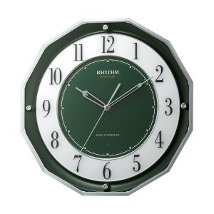 壁掛け時計 電波時計 スリーウェイブ 4MY846SR05 掛時計 リズム時計 文字入れ対応、有料 取り寄せ品|morimototokeiten