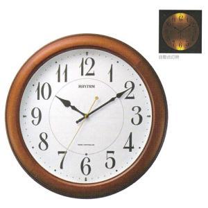 壁掛け時計 暗くなると文字板が光る 電波時計 4MYA25SR06  文字入れ対応、有料 取り寄せ品|morimototokeiten