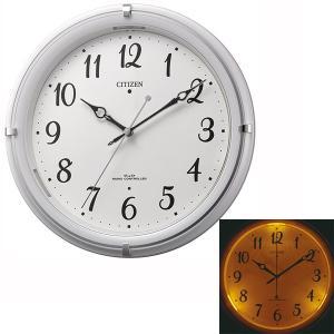 暗くなると文字板が光る シチズン 電波時計 CITIZEN 壁掛け時計 4MYA37-003 文字入れ対応、有料 取り寄せ品|morimototokeiten