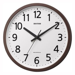 壁掛け時計 電波時計 4MYA38SR06 ステップ秒針 文字入れ対応、有料|morimototokeiten