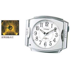 ベル音 電子音 目覚時計 シチズン 電波時計 CITIZEN 4RK411-019  ライト付 目覚まし時計 ネムリーナ 文字入れ対応、有料 取り寄せ品|morimototokeiten