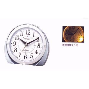 裏面へ 名入れ 時計 文字入れ付き 電子音 シチズン 電波時計 ライト付 目覚まし時計 CITIZEN 4RL431-N04  ネムリーナマロンF 取り寄せ品|morimototokeiten