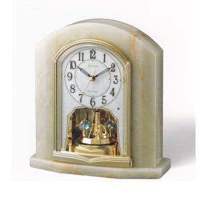 オニックス 回転飾り 置き時計 電波時計 リズム時計 RHYTHM 置時計 4RY685HG05 文字入れ対応、有料 取り寄せ品|morimototokeiten