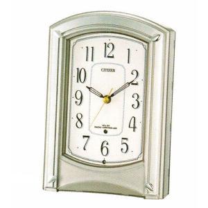置き時計 シチズン CITIZEN 電波時計モダンライフR687 置時計 4RY687-019 記念品に文字 名入れ対応、有料 取り寄せ品|morimototokeiten