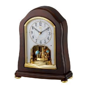 回転飾り 置き時計 電波時計 リズム時計 RHYTHM 置時計 4RY688HG06 文字入れ対応、有料 取り寄せ品|morimototokeiten
