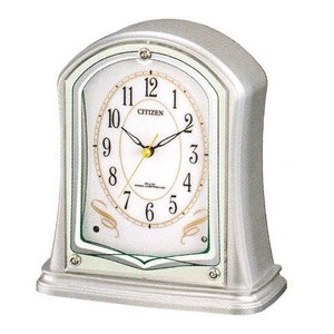 置き時計 シチズン 電波 置時計 CITIZEN 電波時計 4RY694-019 記念品に文字書き 名入れ対応、有料 取り寄せ品|morimototokeiten