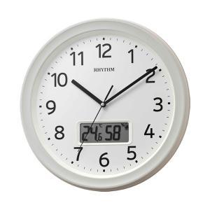 壁掛け時計 温度湿度 カレンダー付 電波時計 8FYA02SR03 文字入れ対応、有料 取り寄せ品|morimototokeiten
