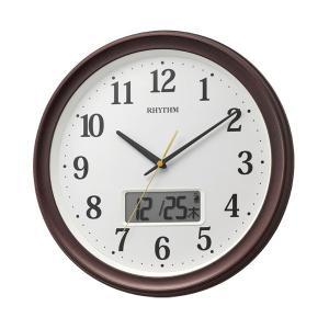 壁掛け時計 温度湿度 カレンダー付 電波時計 8FYA02SR06 文字入れ対応、有料 取り寄せ品|morimototokeiten