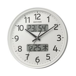 壁掛け時計 温度湿度 カレンダー付 電波時計 8FYA03SR03 文字入れ対応、有料 取り寄せ品|morimototokeiten