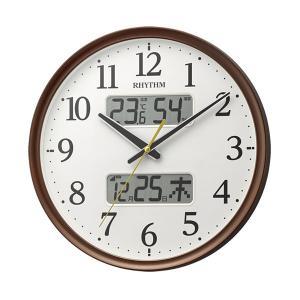 壁掛け時計 温度湿度 カレンダー付 電波時計 8FYA03SR06 文字入れ対応、有料 取り寄せ品|morimototokeiten