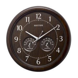 壁掛け時計 8MGA38SR23 温度湿度付 掛時計 リズム時計 RHYTHM 文字入れ対応、有料 取り寄せ品 morimototokeiten