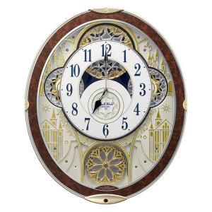 からくり時計 メロディ 電波時計 スモールワールドノエルNS 8MN407RH03 リズム RHYTHM 文字入れ対応、有料 取り寄せ品|morimototokeiten