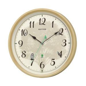メロディ電波時計 四季の野鳥 報時 壁掛け時計 4MN409SR06 掛時計 リズム時計 文字入れ対応、有料 取り寄せ品|morimototokeiten