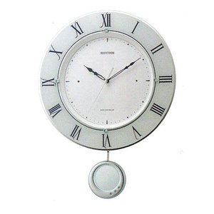 振り子付時計 壁掛け時計 電波時計 8MX402SR03 リズム RHYTHM 文字書き対応、有料 取り寄せ品|morimototokeiten