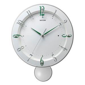 振り子付時計 壁掛け時計 電波時計 8MX408SR03 リズム RHYTHM ガラス面のみ文字書き対応、有料|morimototokeiten