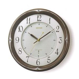 壁掛け時計 電波時計 リズム RHYTHM インテリア 掛時計 8MY459HG06 文字入れ名入れ対応、有料 取り寄せ品|morimototokeiten