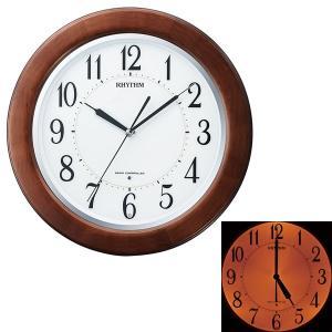 壁掛け時計 暗くなると文字板が光る 電波時計 8MY461SR06 木枠 文字入れ対応、有料 取り寄せ品|morimototokeiten