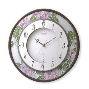 壁掛け時計 電波時計 エミュエールM8F インテリア 掛時計 8MY481EN06 リズム RHYTHM 文字入れ名入れ対応、有料 取り寄せ品|morimototokeiten