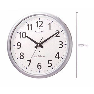 壁掛け時計 シチズン 電波時計 ネムリーナアクア493 掛時計 8MY493-019 文字入れ対応、有料 取り寄せ品|morimototokeiten