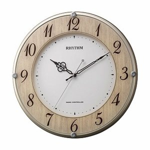 壁掛け時計 電波時計 8MY506SR23 連続秒針 スイープ ガラスへ文字入れ対応、有料 取り寄せ品|morimototokeiten