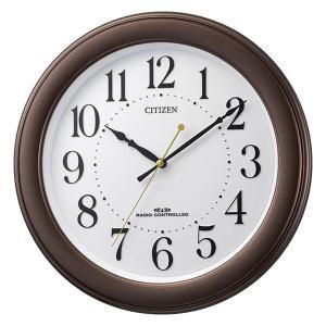 壁掛け時計 電波時計 8MY509-006 連続秒針 スイープ CITIZEN シチズン ガラス面への文字入れ対応、有料 ZAIKO|morimototokeiten