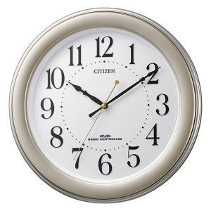 壁掛け時計 電波時計 8MY509-018 連続秒針 スイープ CITIZEN シチズン ガラス面への文字入れ対応、有料 取り寄せ品|morimototokeiten