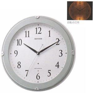 壁掛け時計 暗くなると文字板が光る 電波時計 8MYA23SR04  文字入れ対応、有料 取り寄せ品|morimototokeiten