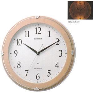 壁掛け時計 暗くなると文字板が光る 電波時計 8MYA23SR13  文字入れ対応、有料 取り寄せ品|morimototokeiten