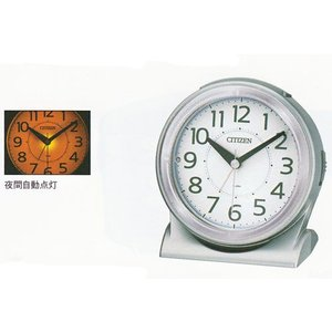 裏面 名入れ時計 文字書き代金込み 電子音 目覚時計 シチズン ライト付 目覚まし時計 CITIZEN 8RE645-019  サイレントミグ 取り寄せ品|morimototokeiten