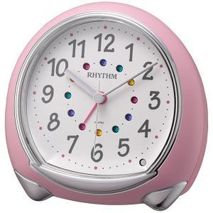 電子音 目覚時計 リズム時計 8RE653SR13 ライト付き 連続秒針 目覚まし時計 RHYTHM 文字入れ対応、有料 ZAIKO|morimototokeiten
