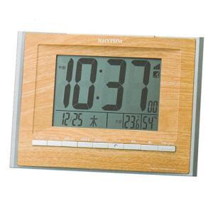 壁掛け時計 置き時計 掛置兼用 8RZ172SR07 リズム 電波時計 RHYTHM デジタル 文字 名入れ対応、有料 取り寄せ品|morimototokeiten