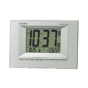 シチズン 壁掛け時計 デジタル 電波時計 掛時計 8RZ181-003 置掛兼用 CITIZEN 文字 名入れ対応、有料 取り寄せ品|morimototokeiten
