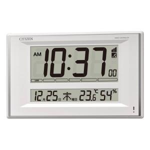 壁掛け時計 シチズン 電波時計 8RZ198-003 デジタル 置き時計 置掛兼用 文字 名入れ対応、有料 取り寄せ品|morimototokeiten
