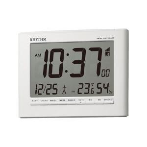 電子音 リズム時計 電波時計 ライト付 RHYTHM デジタル 目覚まし時計 8RZ203SR03 文字 名入れ対応、有料 取り寄せ品|morimototokeiten