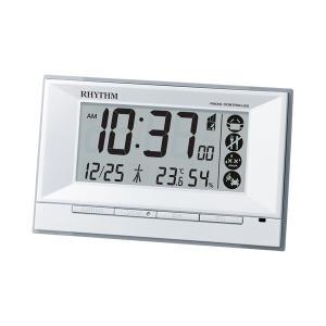 電子音 リズム時計 電波時計 ライト付 RHYTHM デジタル 目覚まし時計 8RZ207SR03 文字 名入れ対応、有料 取り寄せ品|morimototokeiten