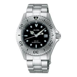 ALBA アルバ AEFD529 ソーラー メンズ 腕時計 男性用 ダイバーデザイン 取り寄せ品|morimototokeiten