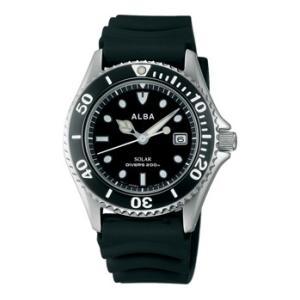 ALBA アルバ AEFD530 ソーラー メンズ 腕時計 男性用 ダイバーデザイン 取り寄せ品|morimototokeiten
