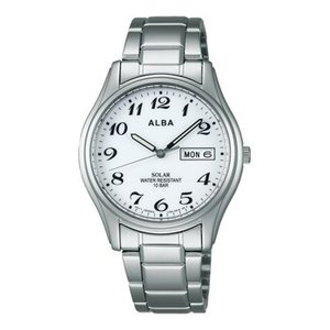 ALBA アルバ AEFD539 ソーラー メンズ 腕時計 男性用 名入れ刻印対応、有料 取り寄せ品|morimototokeiten