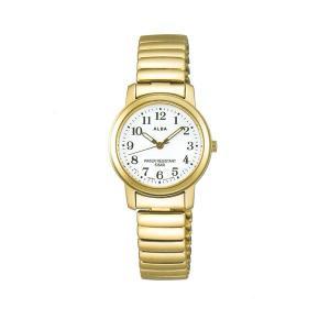 アルバ ALBA 伸縮バンド採用 女性用 腕時計 AEGS924 電池式時計 スタンダードコレクション 名入れ刻印対応、有料 morimototokeiten