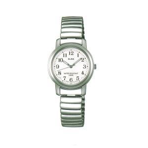 アルバ ALBA 伸縮バンド採用 女性用 腕時計 AEGS925 電池式時計 スタンダードコレクション 名入れ刻印対応、有料 morimototokeiten