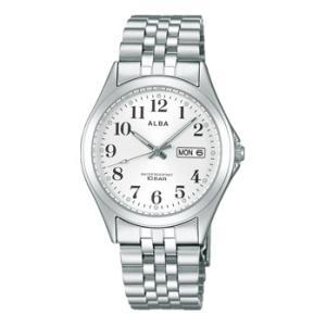 ALBA アルバ デイデイト 日・曜日付 男性用腕時計 AIGT009 ルミブライト付 メンズウオッチ 名入れ刻印対応、有料|morimototokeiten