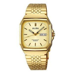 ALBA アルバ  男性用腕時計 AIGT012 デイデイト 日・曜日付 ルミブライト付 メンズウオッチ 名入れ刻印対応、有料 取り寄せ品|morimototokeiten