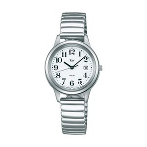 伸び縮み 伸縮バンド 蛇腹 ジャバラ バンド ソーラー 女性用 腕時計 AKQD023 ALBA アルバ 名入れ刻印対応、有料 取り寄せ品|morimototokeiten