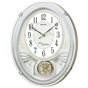 セイコー メロディー電波掛時計 SEIKOウェーブシンフォニー AM258W 文字入れ名入れ対応、有料 取り寄せ品|morimototokeiten