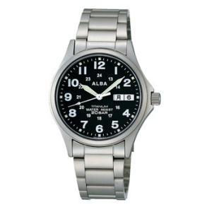 ALBA アルバ チタン素材採用 男性用腕時計 APBT207 ルミブライト付  名入れ刻印対応、有料 取り寄せ品|morimototokeiten